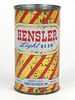 1949 Hensler Light Beer 12oz Flat Top Can 81-32v