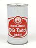1963 International Old Dutch Beer 12oz Tab Top Can T78-27