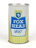 """1966 Fox Head """"400"""" Beer 12oz Tab Top Can T66-08"""