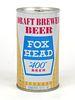 """1974 Fox Head """"400"""" Beer 12oz Tab Top Can T66-04"""