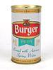 1968 Burger Beer 12oz Tab Top Can T50-37.2
