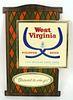 1968 West Virginia Pilsner Beer  Sign