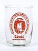 1957 Coors Beer  Barrel Glass