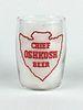 1957 Chief Oshkosh Beer  Barrel Glass