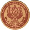 1943 Rams Head Old Stock Ale  4¼ inch coaster Coaster PA-SCHE-25