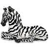 Large Zebra Glazed Porcelain Sculpture