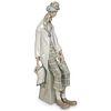 Lladro Porcelain Clown w/ Accordion Figurine