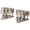 (20 Pc) Arte Italica Silver Overlaid Cups