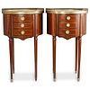 (2 Pc) Louis XVI Style Nightstands Side Tables