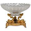 Gilt Bronze & Crystal Centerpiece Bowl