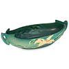 Roseville Freesia Green Pottery Handled Basket