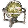 Semi Precious Stone Rotating World Globe