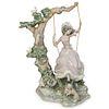 "Lladro ""Victorian Girl On Swing"" Porcelain"