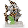 Herend Porcelain Double Fish Porcelain