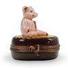 Limoges Porcelain Pig Trinket Box