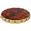 Art Nouveau Marquetry and Inlaid Bronze Compact Case