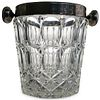 Val St Lambert Silver Plated Crystal Ice Bucket