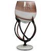 Jozefina Krosno Art Glass Jellyfish Bowl Vase