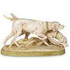 Royal Dux Hunting Dogs