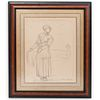 Winslow Homer Chalk Drawing Study On Paper