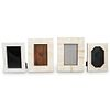 (4 Pc) Continental Carved Bone Picture Frames