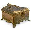 Antique WB Bronze Jewelry Box