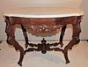 VICTORIAN TURTLE MARBLE TOP TABLE