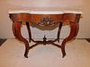 VICTORIAIN ROSEWOOD MARBLE TOP TABLE