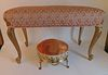FRENCH STOOL & BENCH