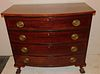 CHIPPENDALE BOW FRONT CHEST