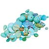 LOT OF LOOSE MIXED CUT TURQUOISE