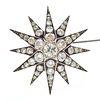 Diamond, 9k, Silver Starburst Pin Pendant