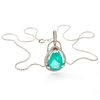 Emerald, Diamond, 18k White Gold Necklace