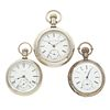 Collection of Three Open Face Pocket Watches