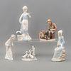 Lote de 5 figuras decorativas. España, Japón y Holanda, SXX. Elaborados en porcelana Lladró, Andrea, Nadal, NAO y ADCO. 29 cm de altura