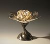 Gilded Lotus Nest on Stand