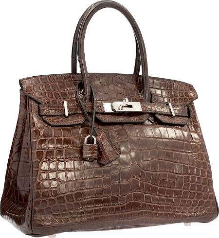 Hermes 30cm Shiny Havane Nilo Crocodile Birkin Bag with Palladium ... 5895d3f6700b1