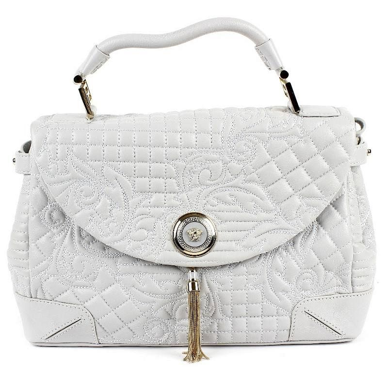 Gianni Versace An Altea Quilted Barocco Vanitas Bag Designed With A Pale Grey Leather Ext By Fellows Bidsquare