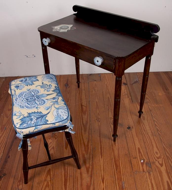 - Antique Mahogany Vanity W/ Stool By Bremo Auctions Bidsquare