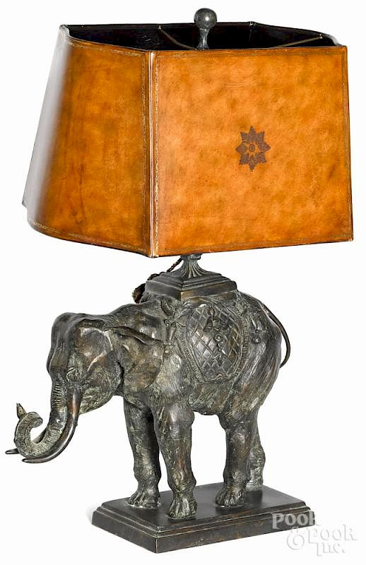 Maitland Smith Bronze Elephant Table Lamp 30 H By Pook Inc Bidsquare