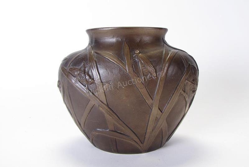 Phoenix Art Glass Grasshopper Vase By Wickliff Auctioneers Bidsquare