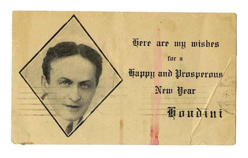 Harry Houdini Magician Stamp Cufflinks