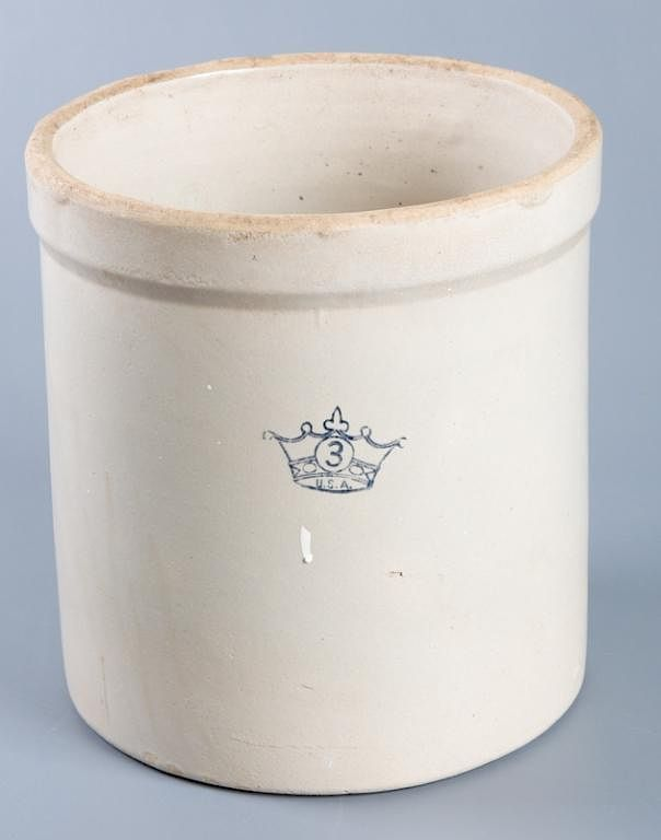 Robinson Ransbottom 3 Gallon Crock Crown Mark By Bremo Auctions