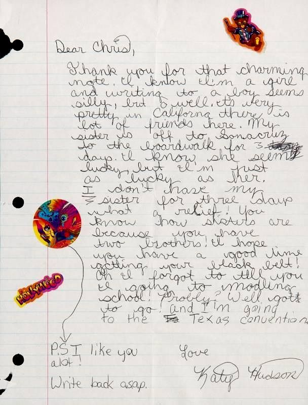 katy perry early love letter by juliens auctions bidsquare
