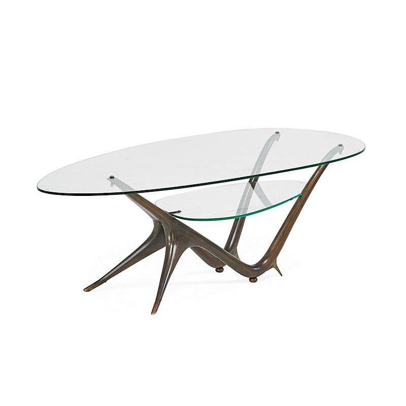 Phenomenal Carlo Mollino Rare Coffee Table By Rago 515452 Bidsquare Inzonedesignstudio Interior Chair Design Inzonedesignstudiocom
