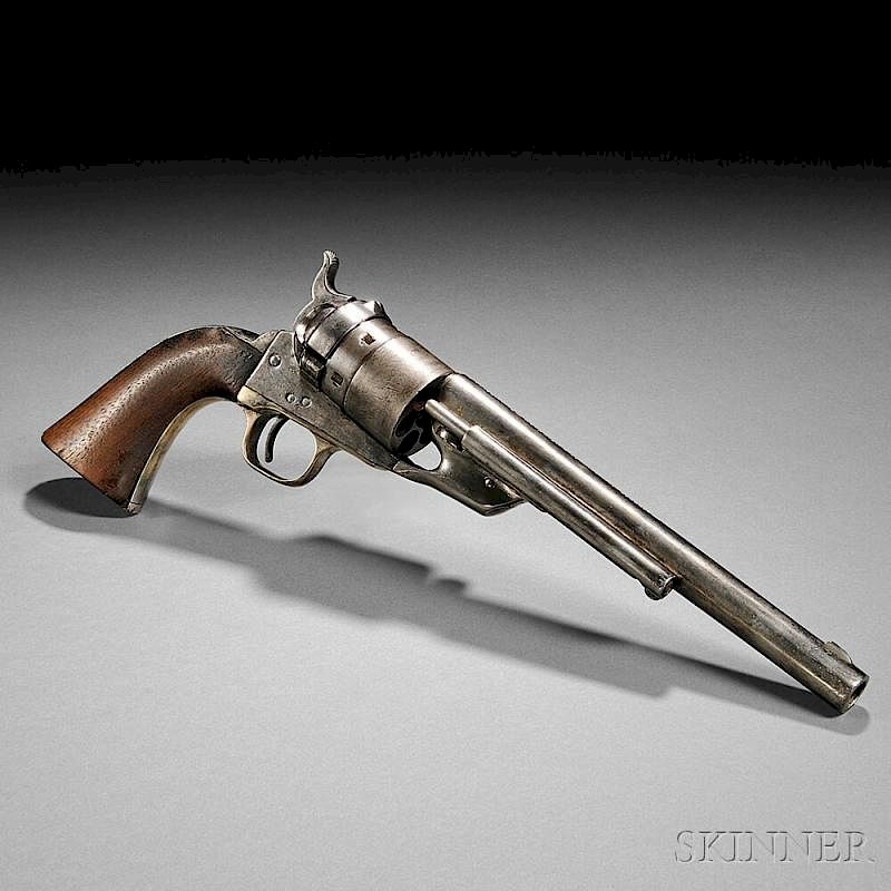 Identified Nickel-plated Model 1860 Colt Richards Conversion