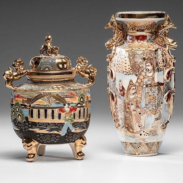 Royal Satsuma Porcelain Vase And Censer By Cowans Auctions Inc