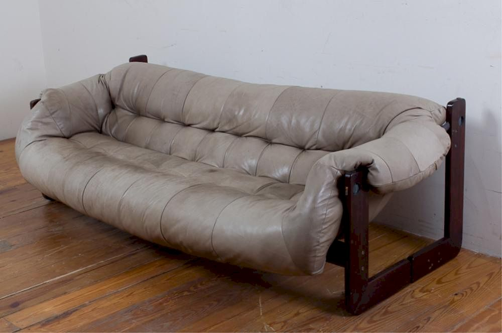 Percival Lafer Leather Sofa By Bremo