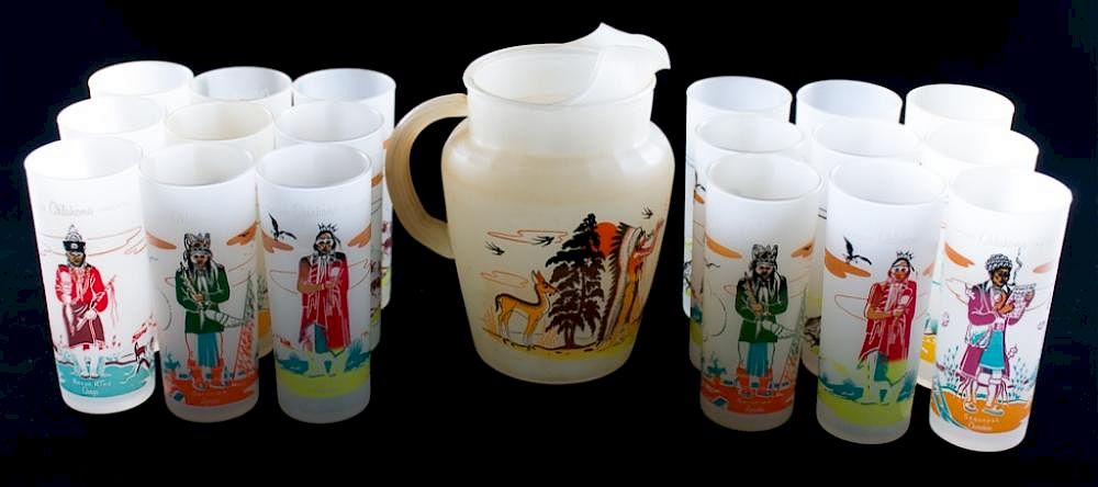 Blue Eagle Famous Oklahoma Indians Glassware, 19 by Bremo