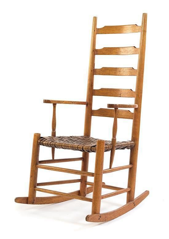 Awesome An American Ladder Back Rocking Chair Height 41 3 4 Inches Beatyapartments Chair Design Images Beatyapartmentscom